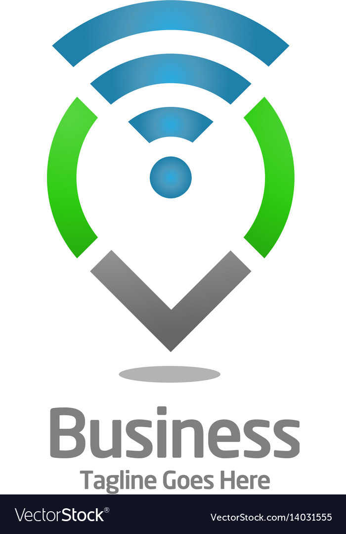 Local business logo vector image