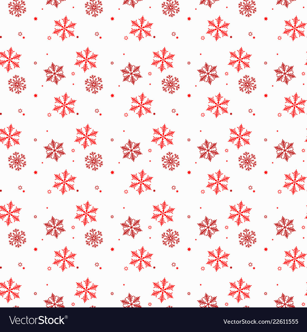 Seamless winter pattern background of snowflakes