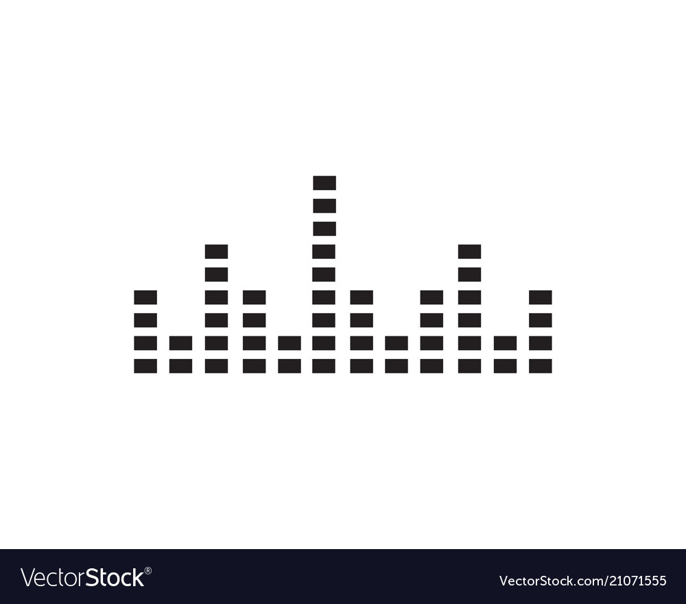 Sound wave ilustration logo icon template Vector Image