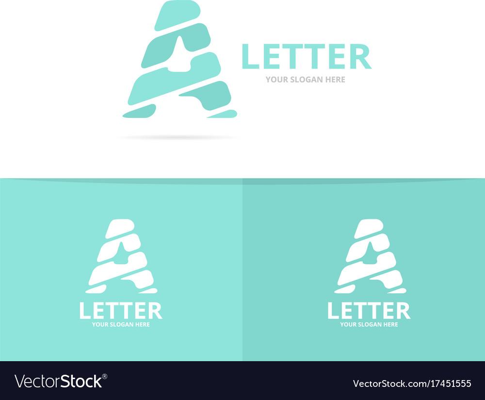 Unique letter a logo design template