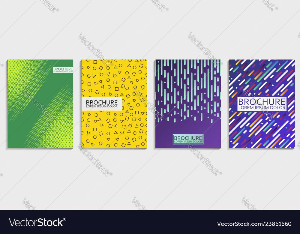 Covers design set for brochure