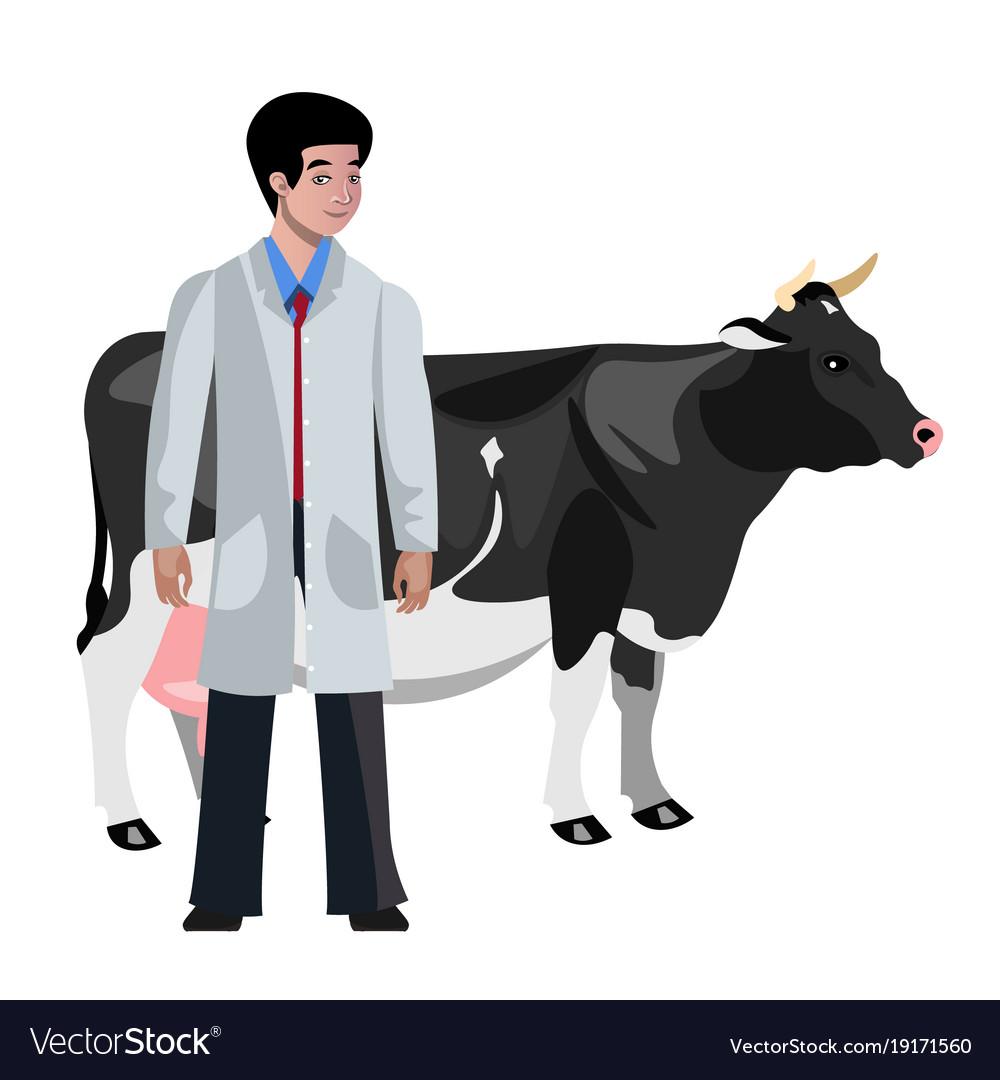 Cow veterinarian character