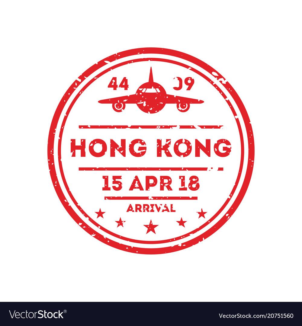 Hong kong city visa stamp on passport