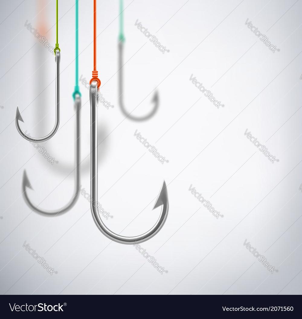Hooks concept background vector image