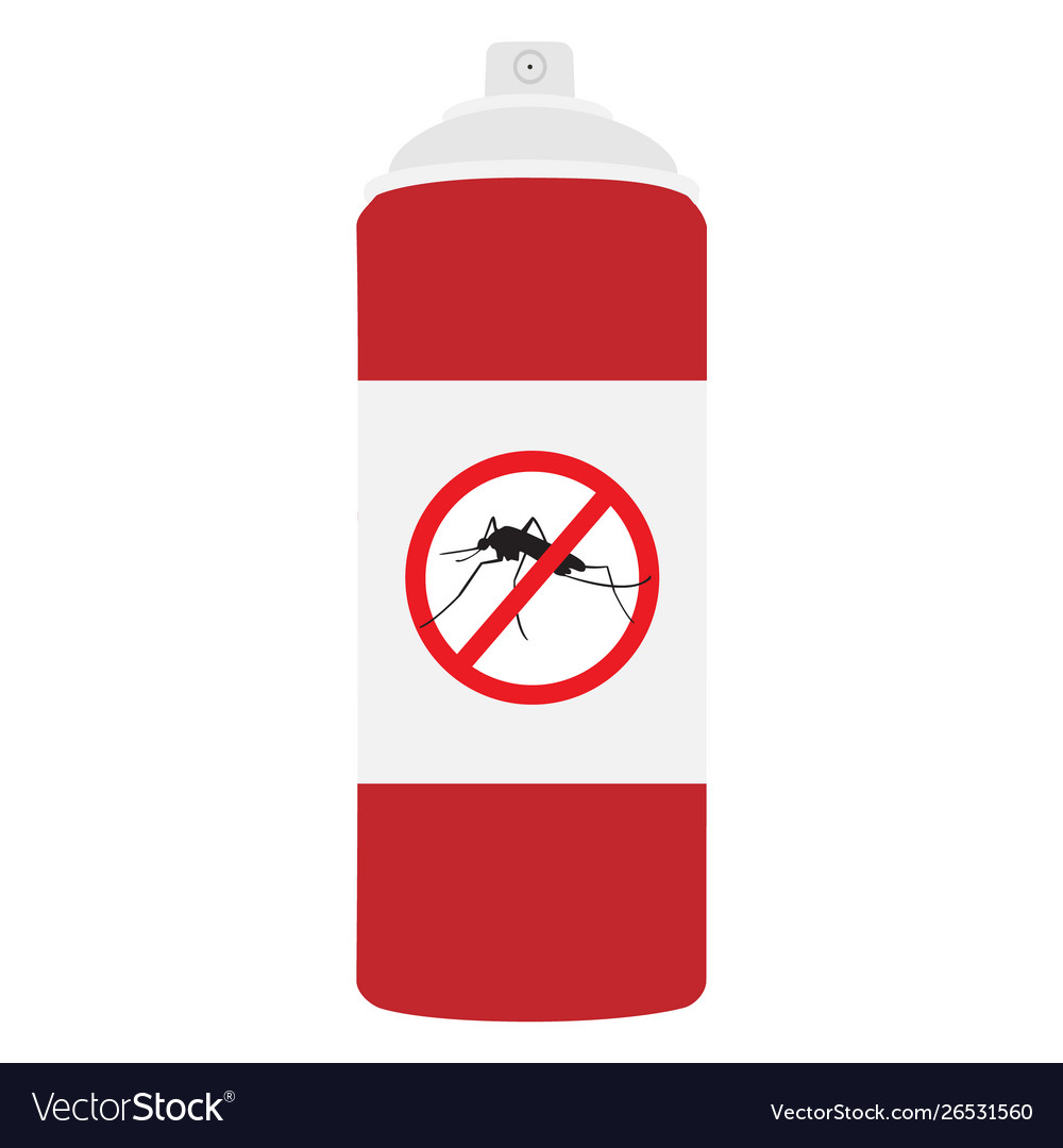 Mosquito spray bottle icon mosquito insect stop