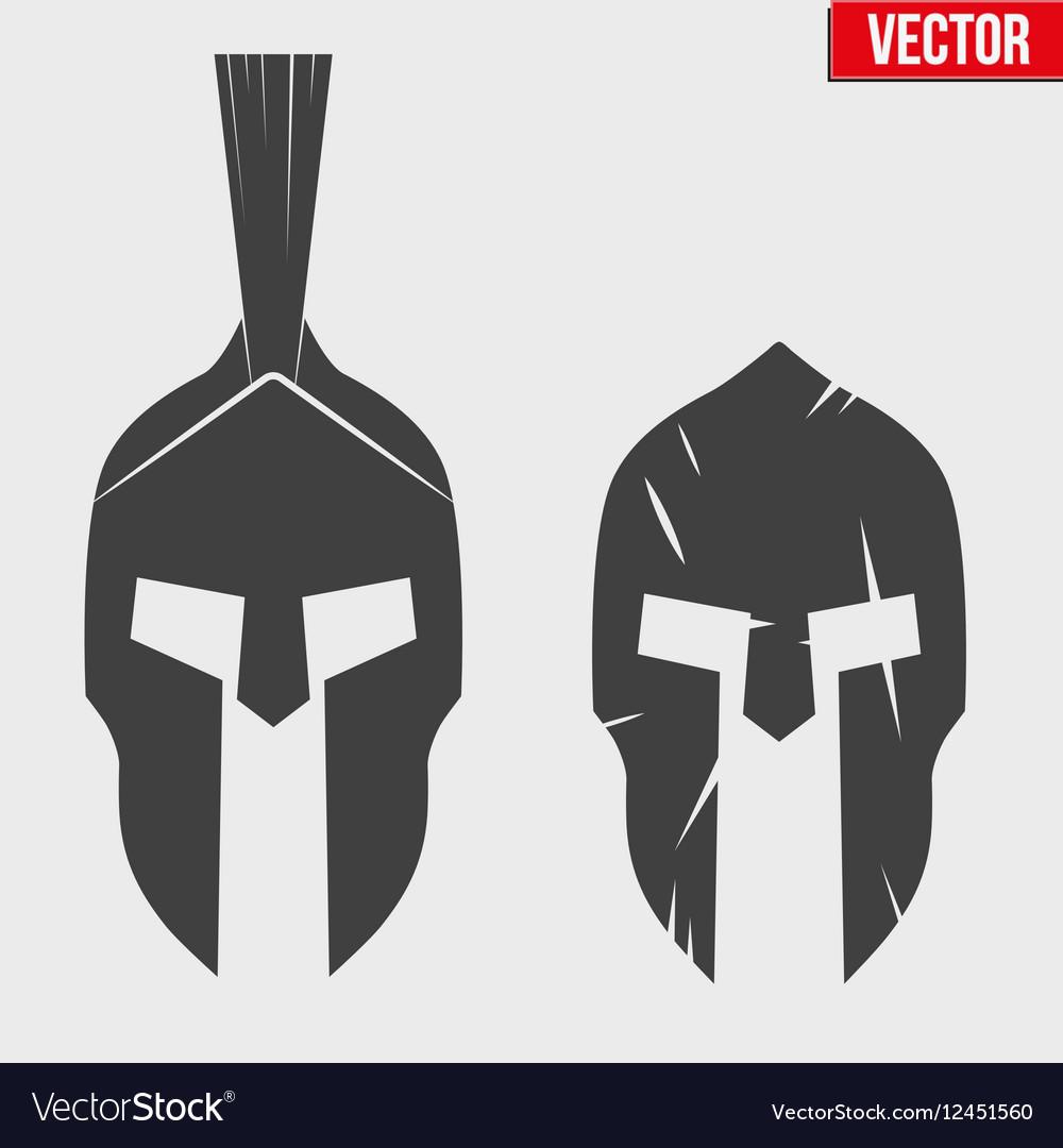 Set of Silhouette Spartan helmets