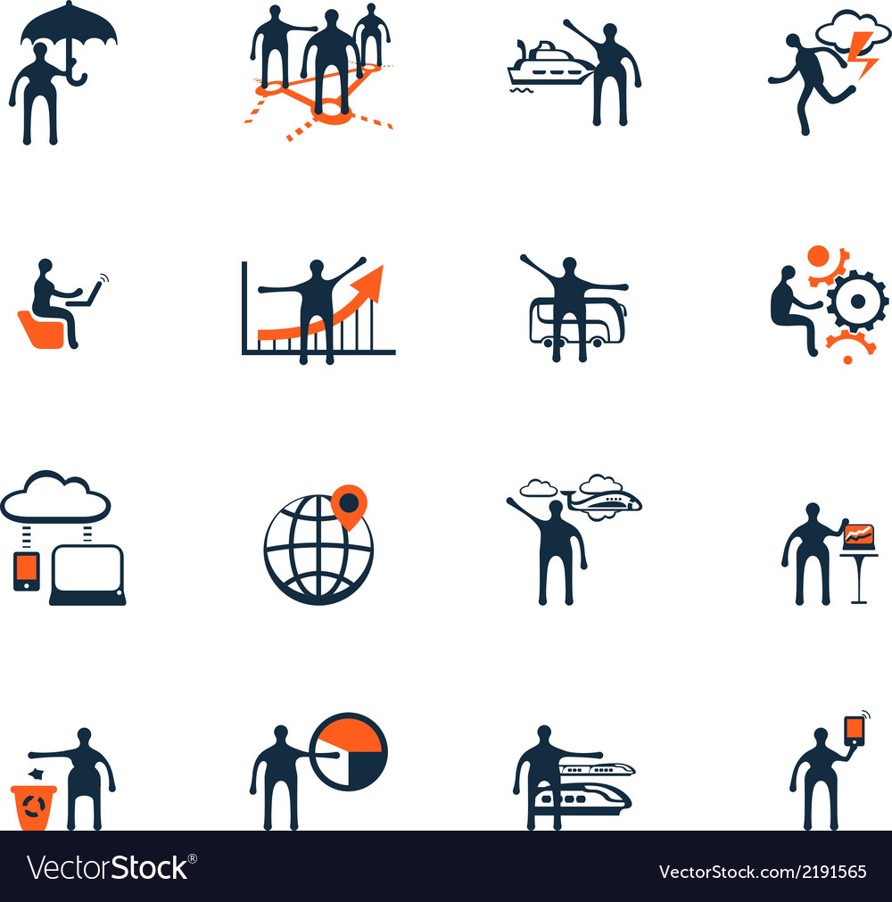 Business people icons Management human resources