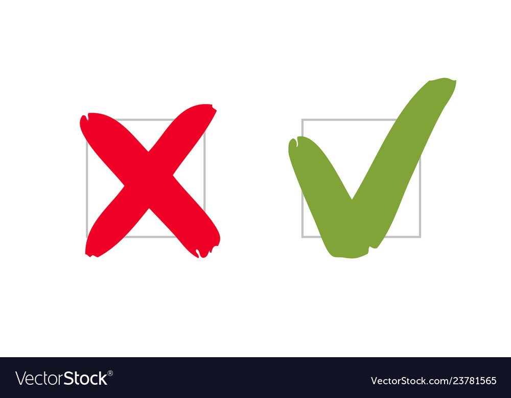 Do and dont pros and cons check marks sign vote