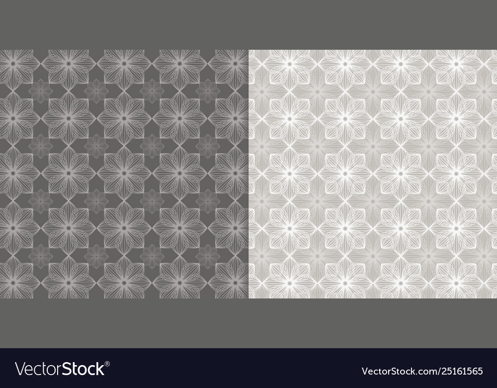 Floral pattern beige and white background