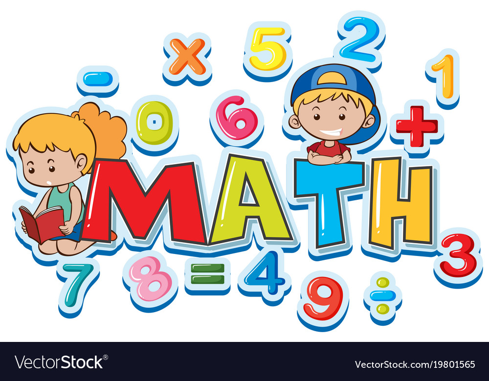 Font design for word math with many numbers and