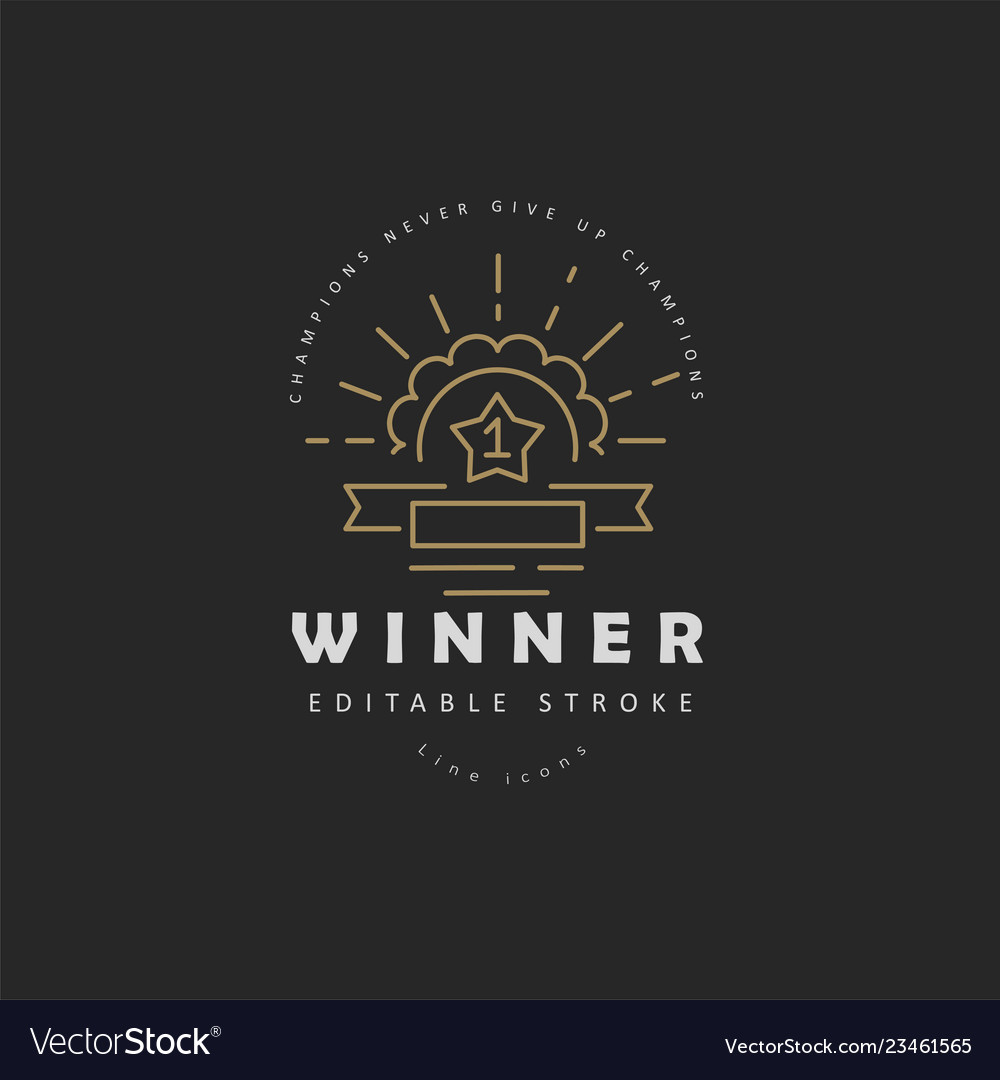 Icon and logo winner and champion editable