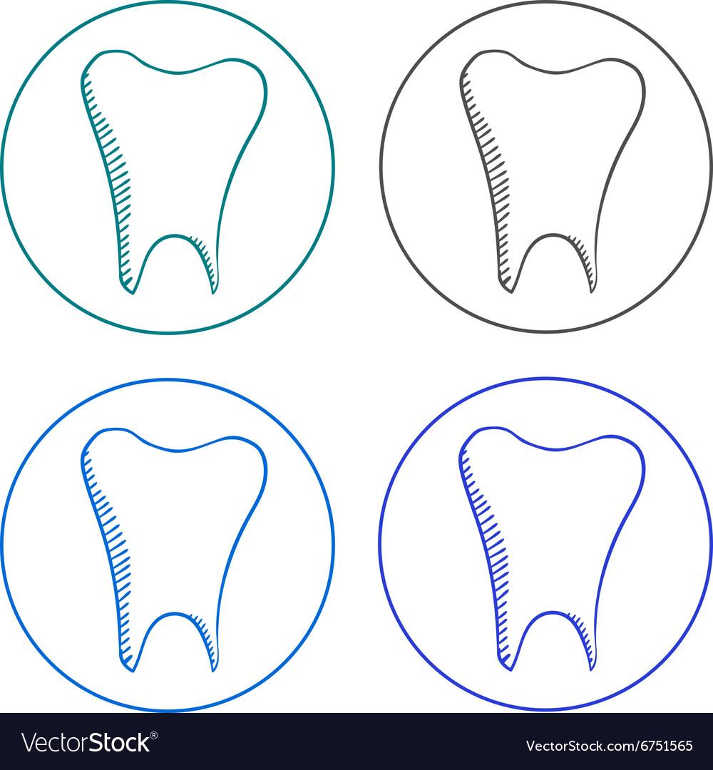 Logo tooth set