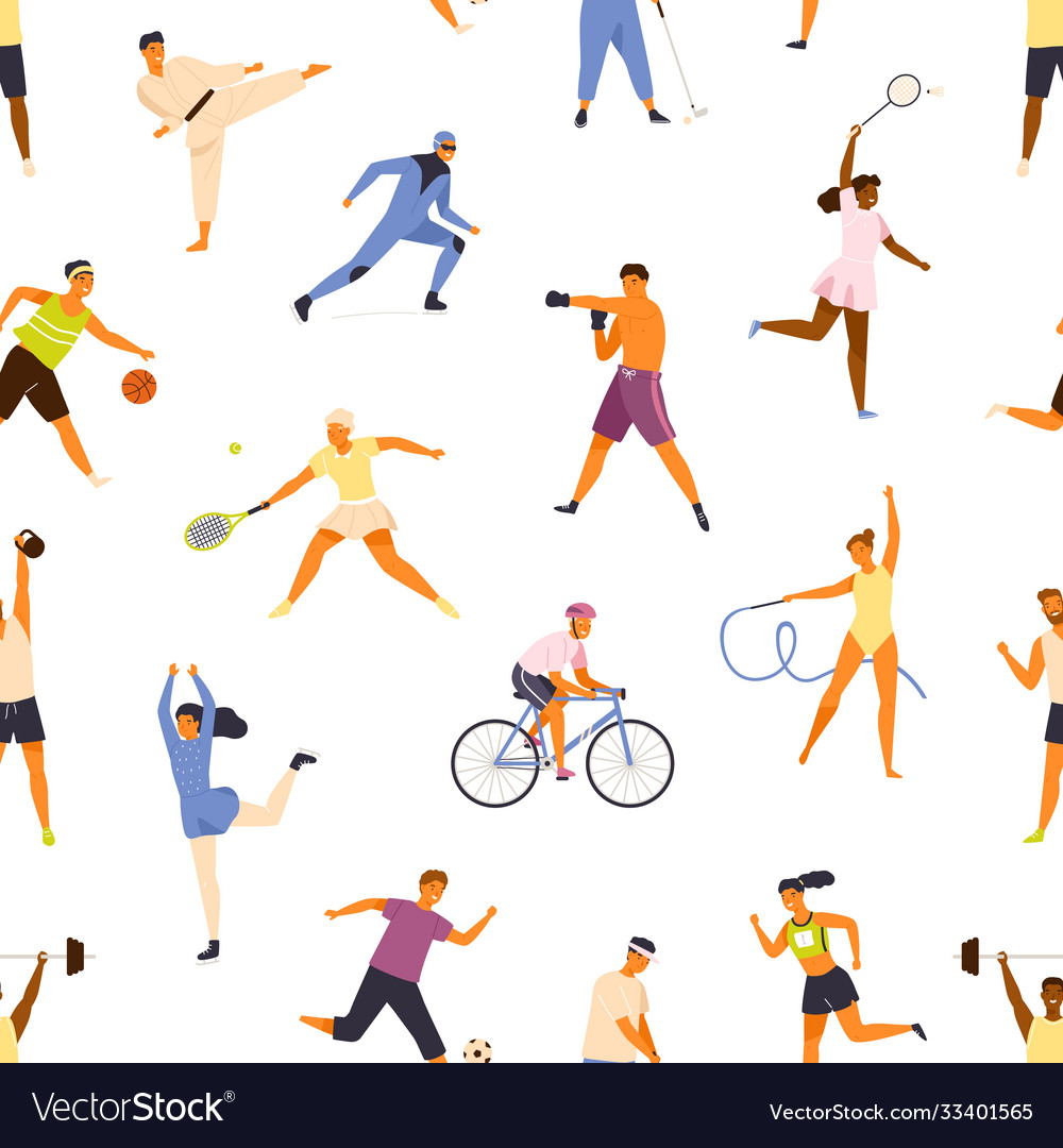 Man and woman performing various kinds sports