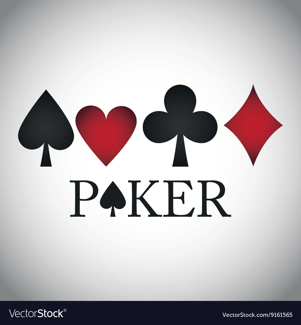 Poker design cards and game concept casino