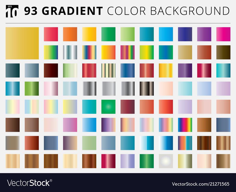 Set of 93 square gradient color backgrounds