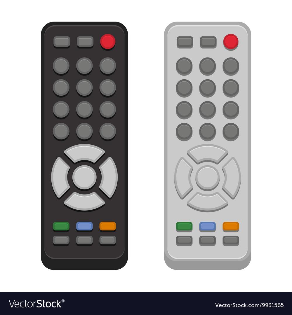 TV Remote Control Set on White Background