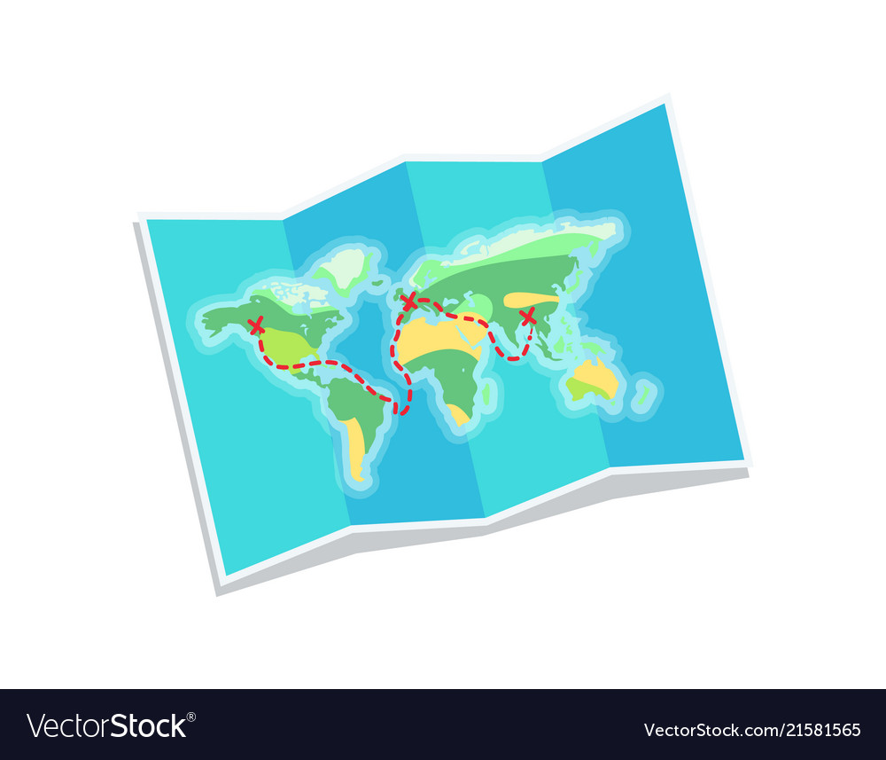 World map for travelling