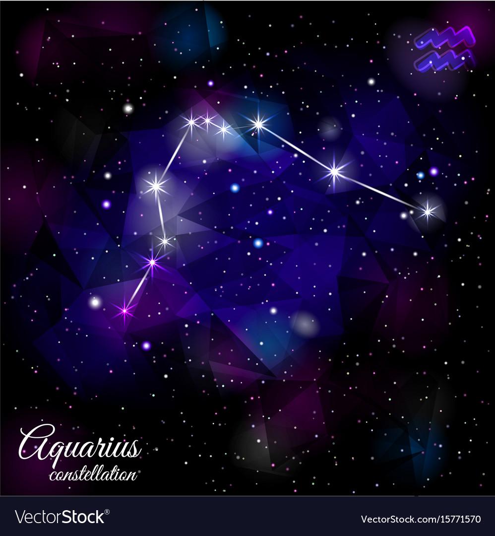 Aquarius constellation with triangular background
