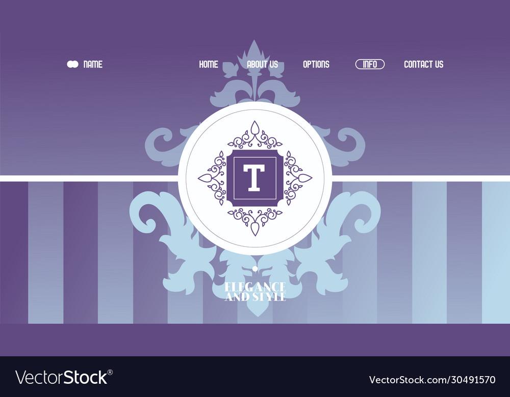 Decorative emblem for company website design