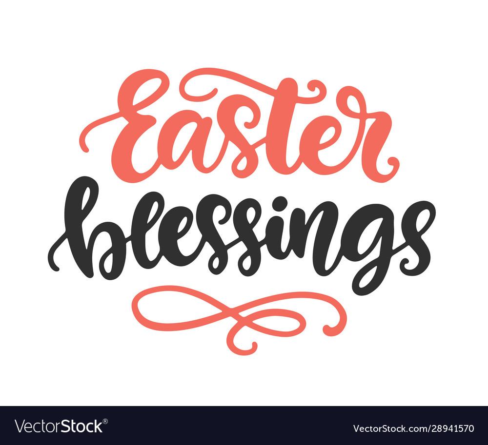 Easter blessings seasonal holiday lettering
