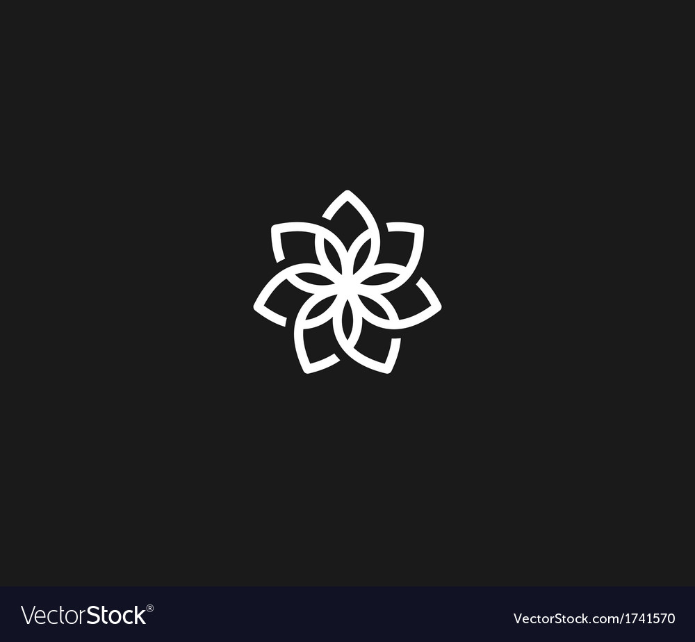 Flower symbol royalty free vector image vectorstock flower symbol vector image mightylinksfo