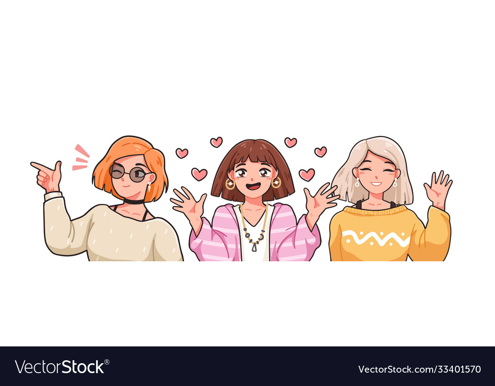 Group funny female anime characters