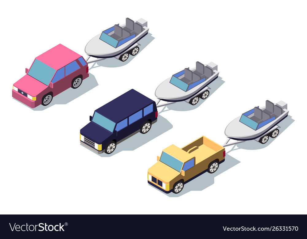 Isometric 3d front view classic pickup truck car