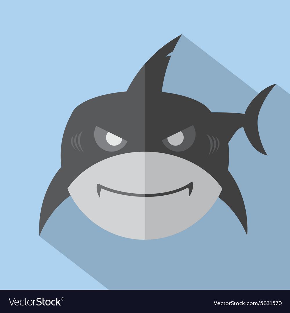 Modern Flat Design Shark Icon