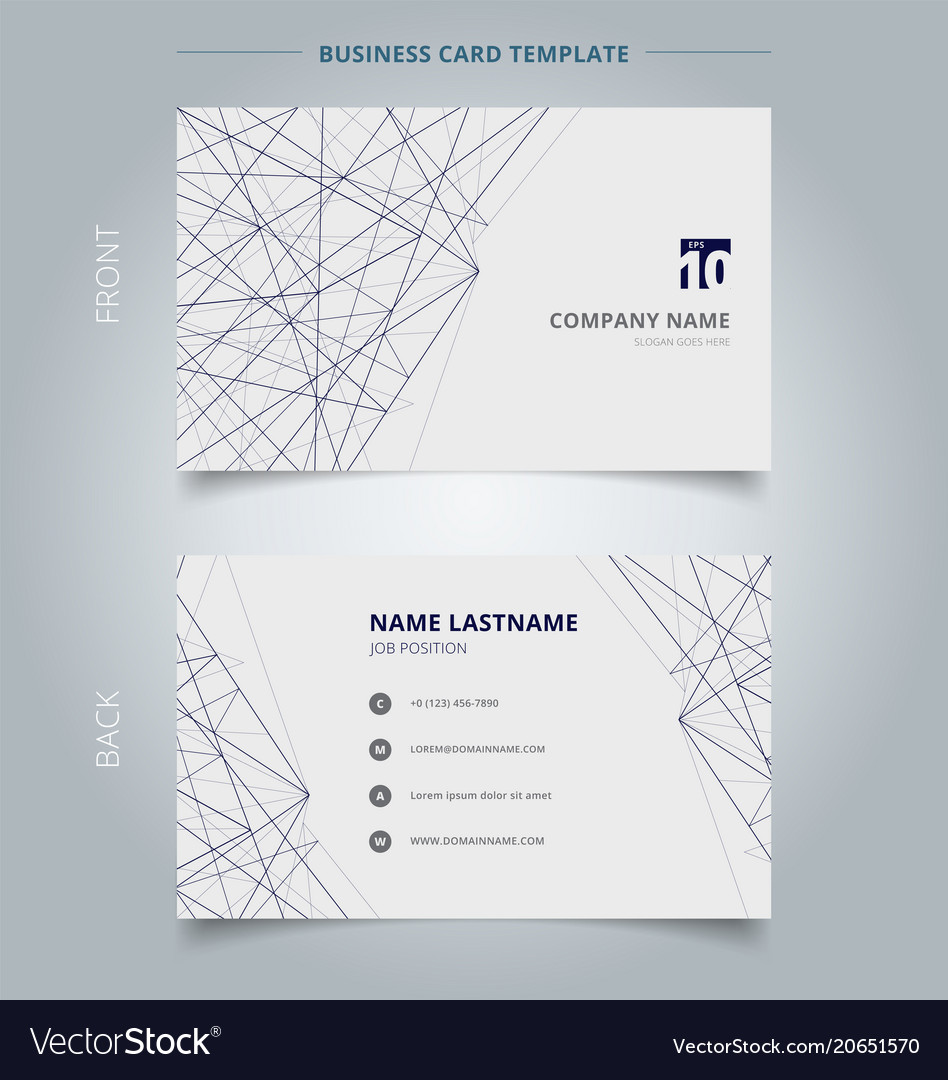 Name card business template lines structure on