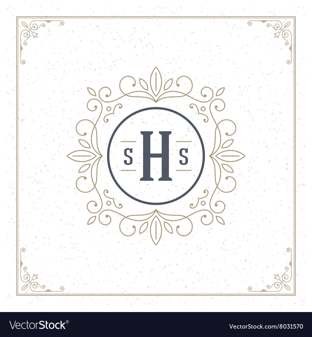 Royal Logo Design Template Decoration