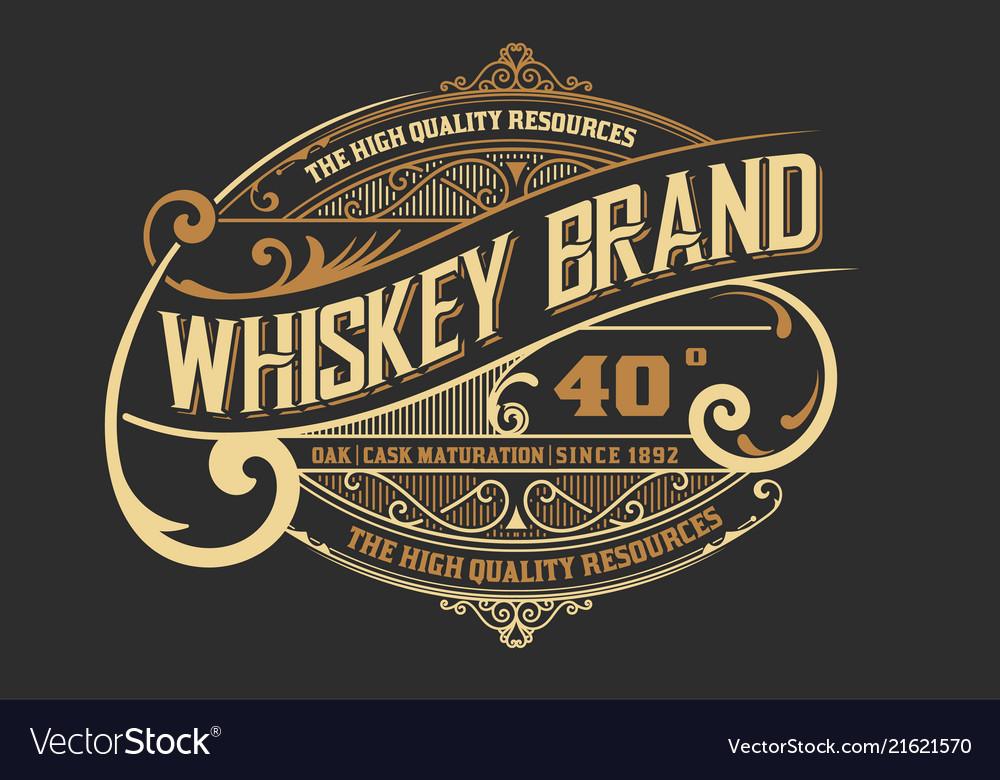 Vintage design for logo label or packing