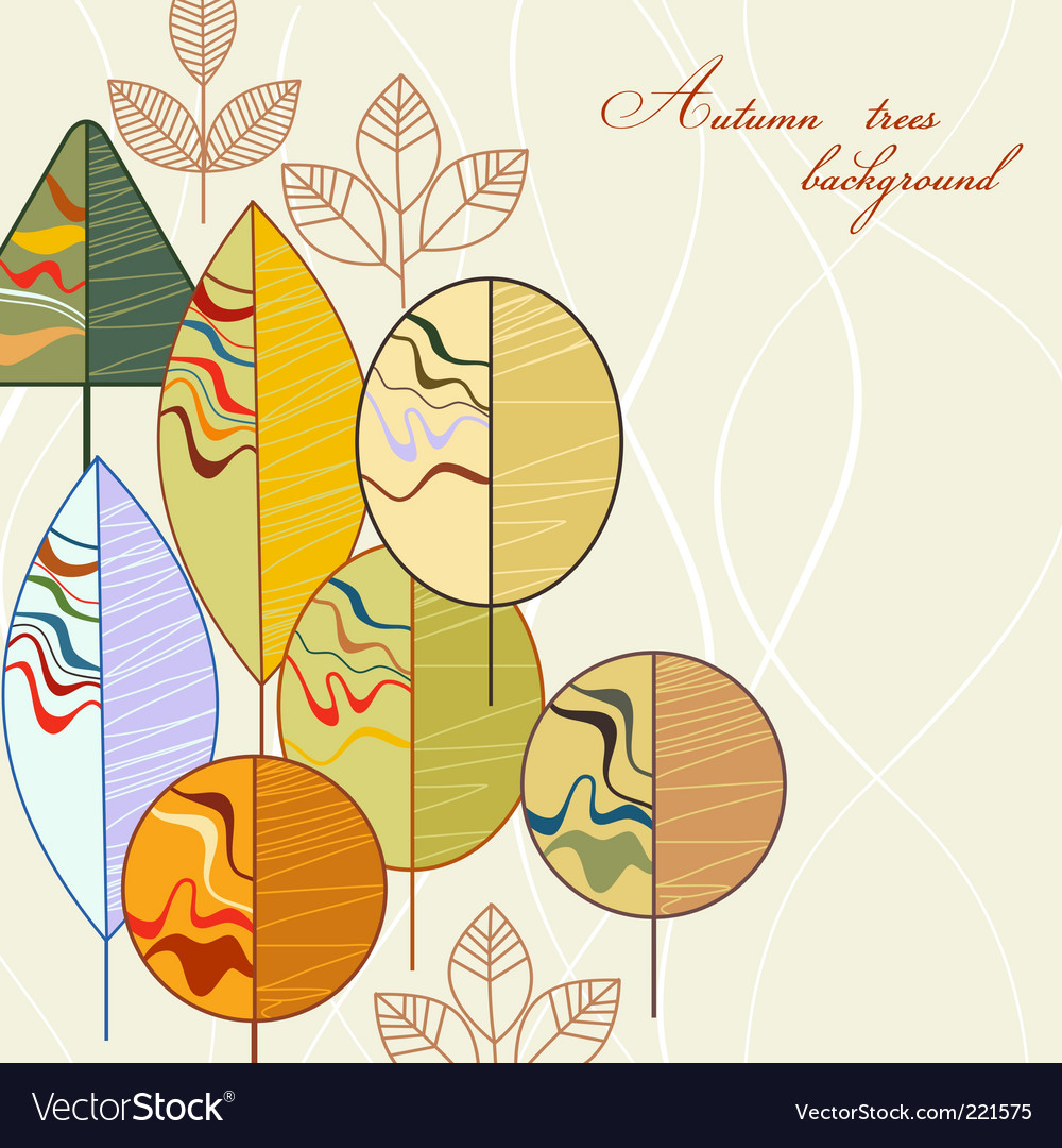Autumn trees vector image