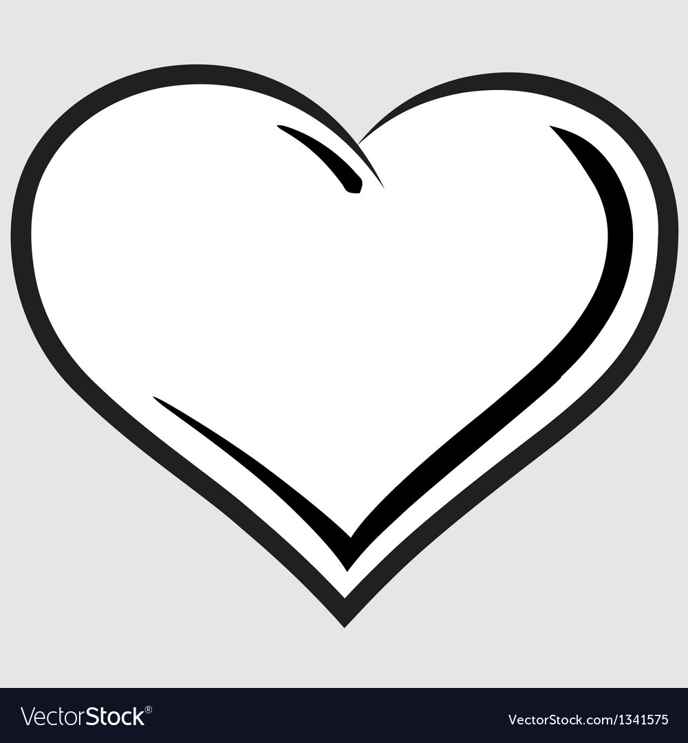 Black and white heart symbol
