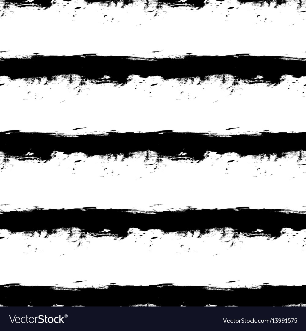 Black horizontal stripes on white background vector image