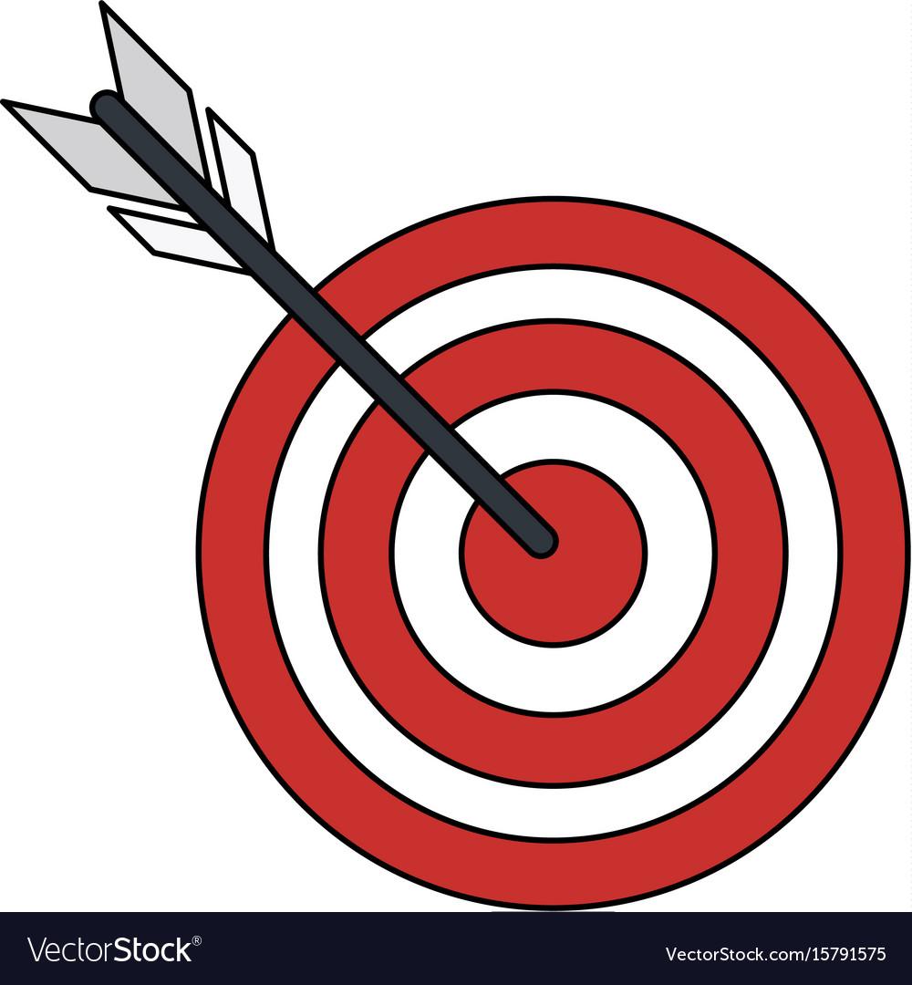 bullseye or dart board icon image royalty free vector image