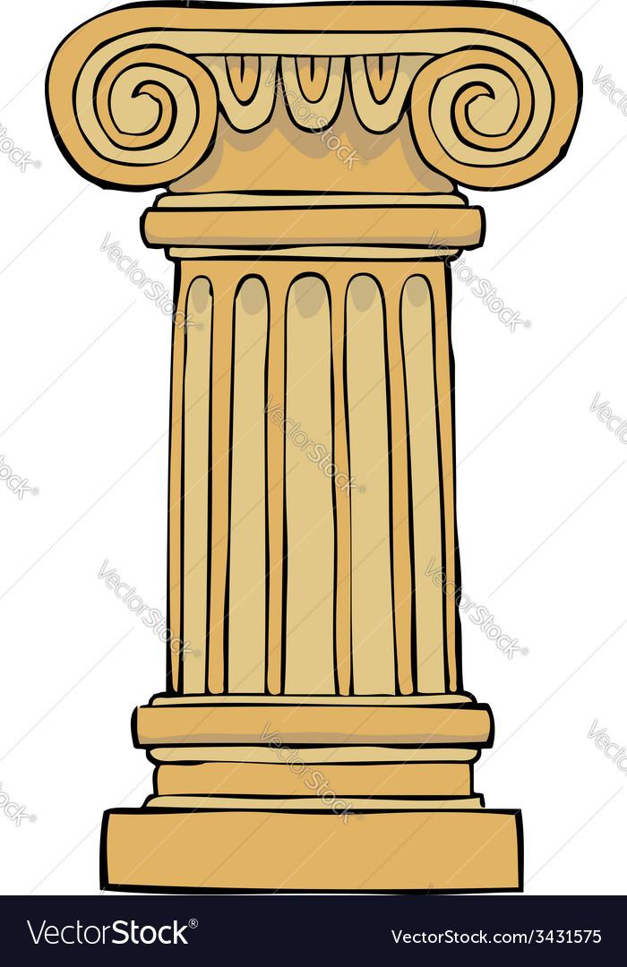 Fantastic Column pedestal Royalty Free Vector Image - VectorStock JU85