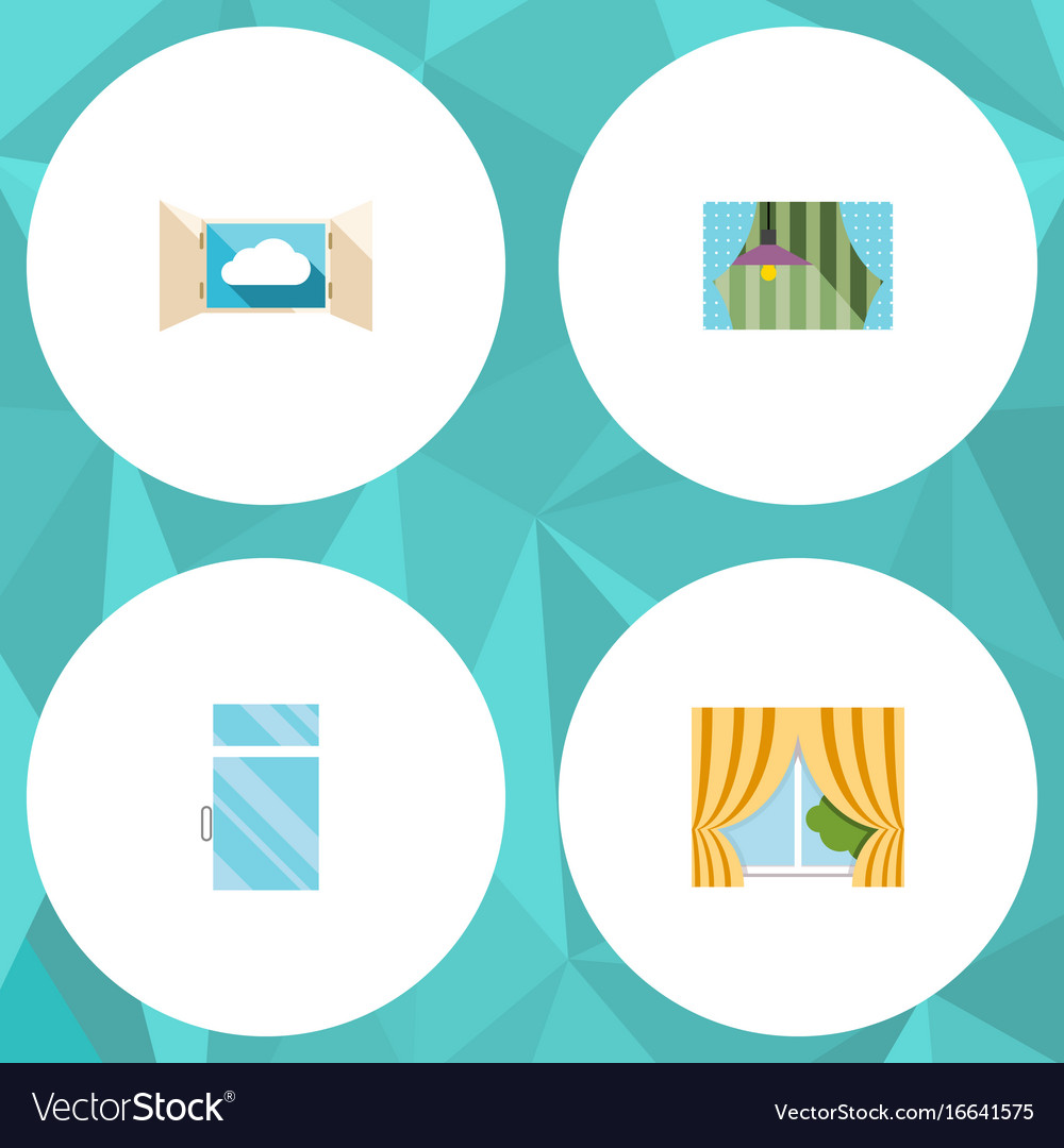 Flat icon frame set of glass frame clean cloud