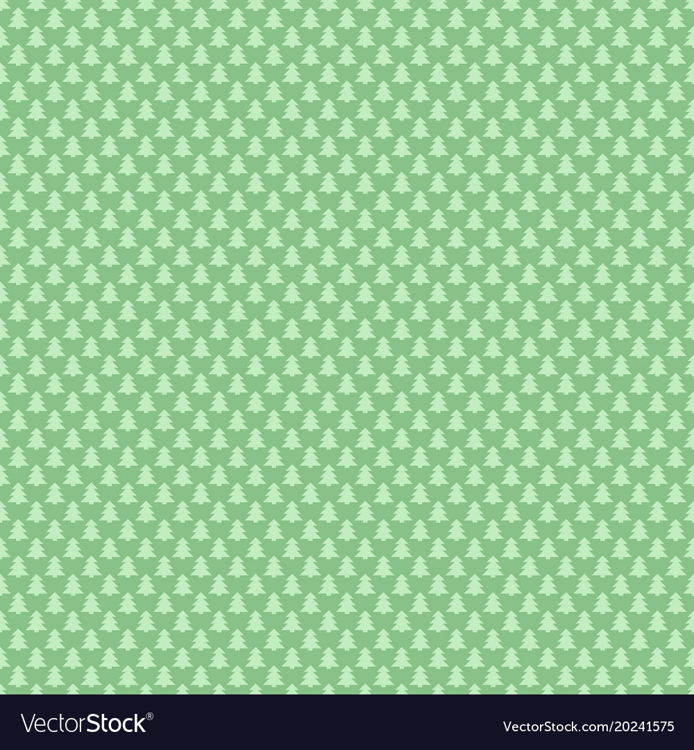 Light green simple repeating geometric pine tree
