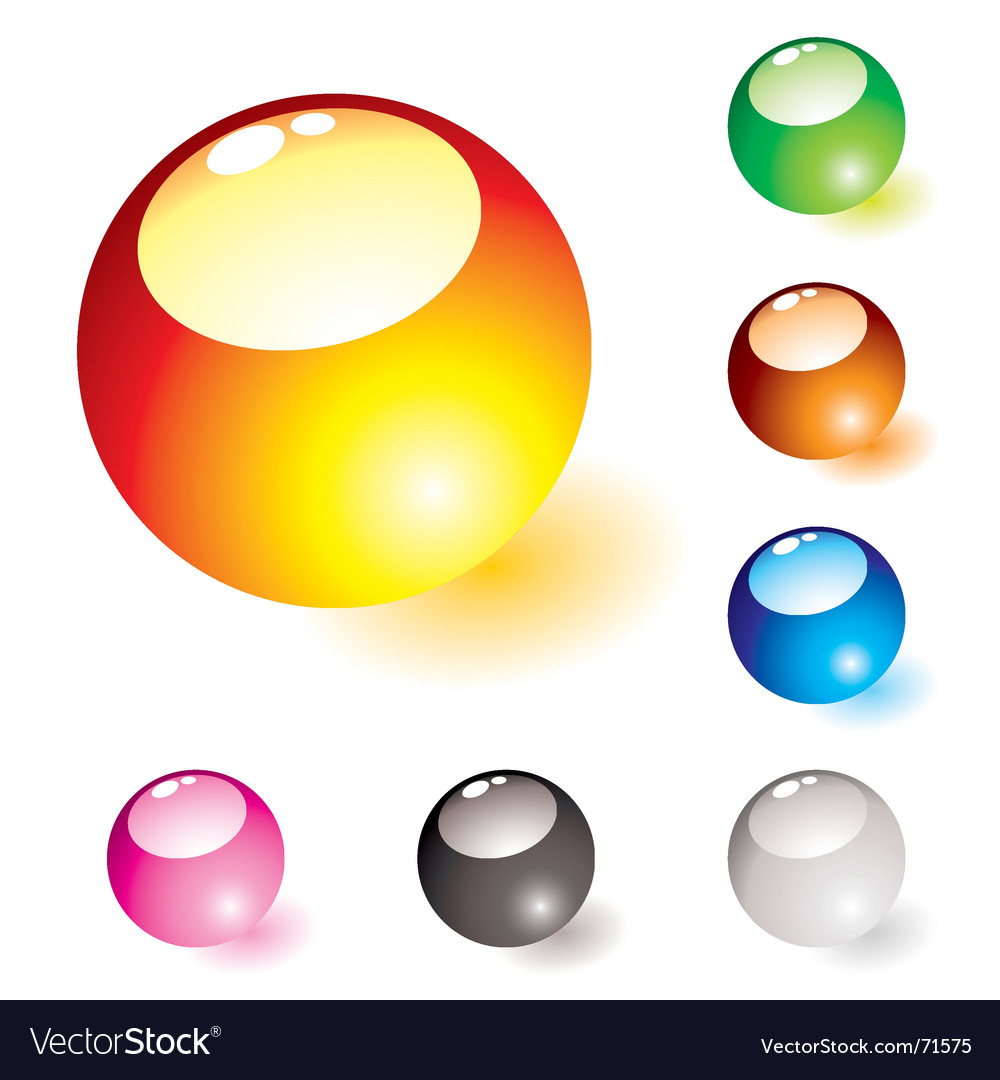 Marble shine glow vector image