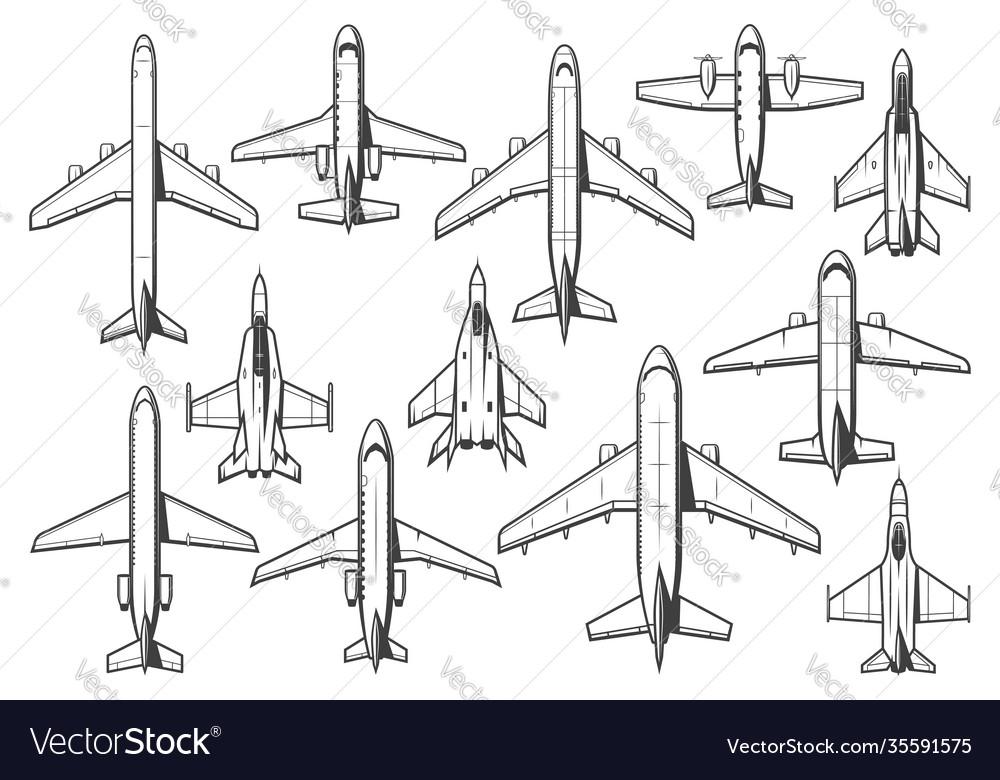 Modern civil and military aircraft set