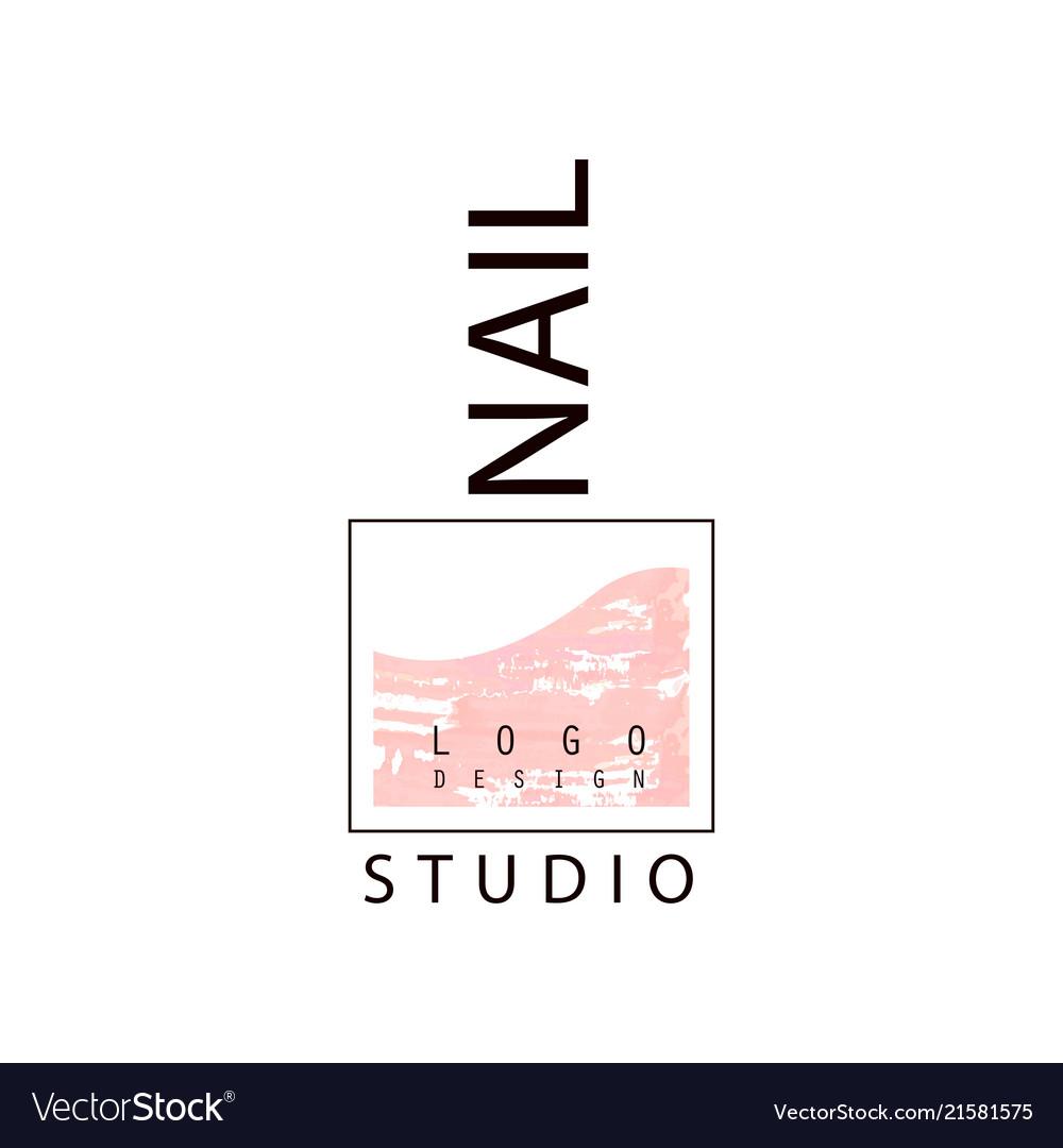 nail studio logo creative template for nail bar vector image