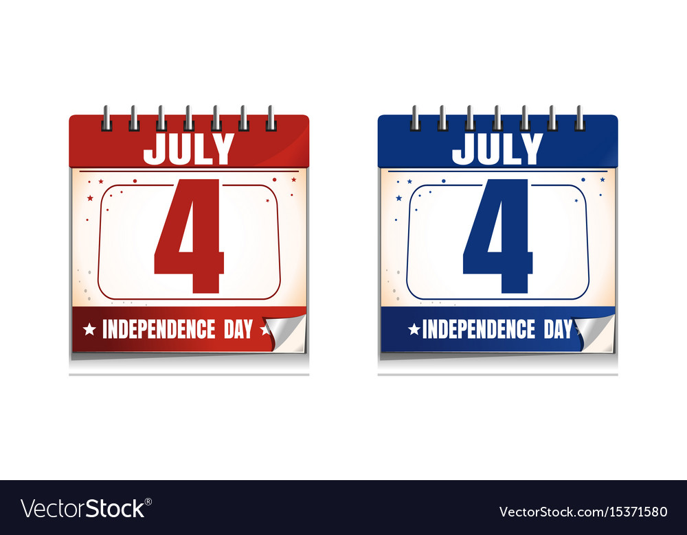 4th of july calendar icon set us independence day