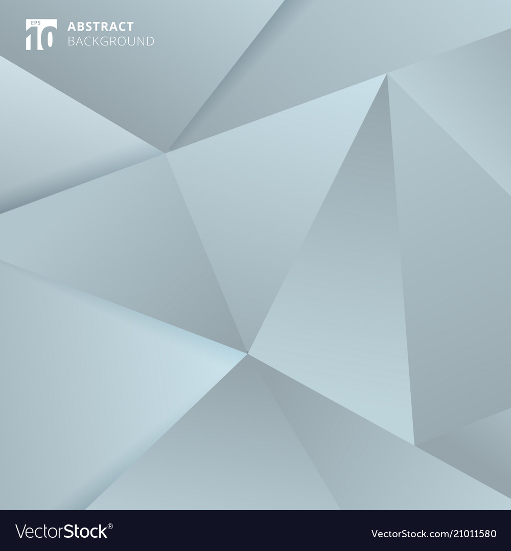 Abstract gray and blue polygonal background
