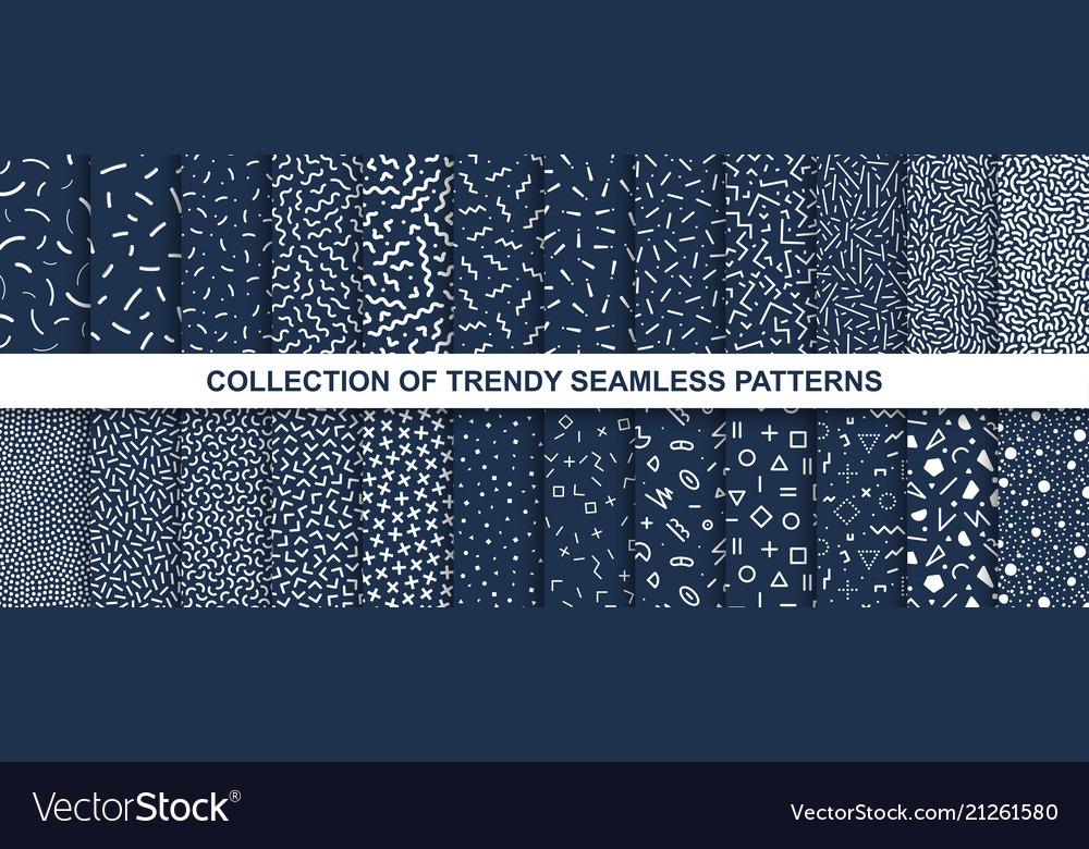 Big collection of memphis seamless patterns