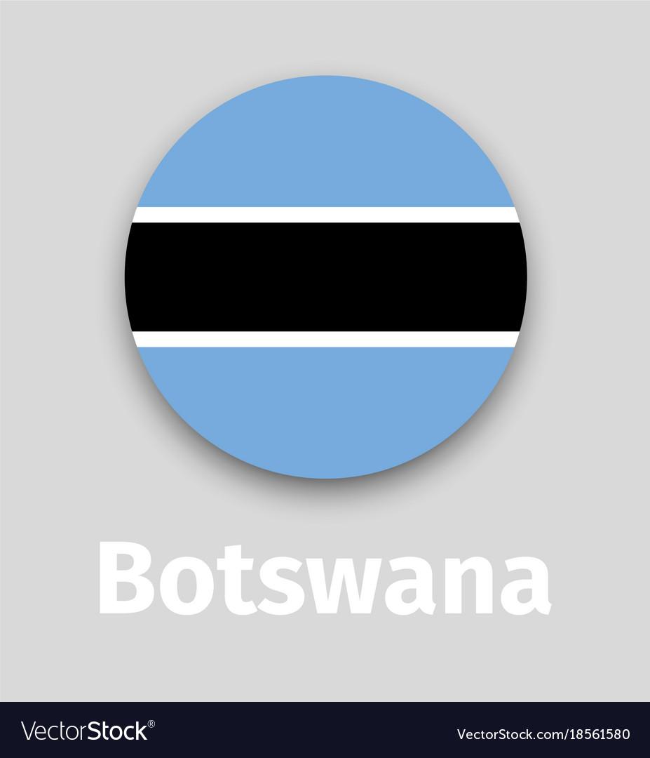 Botswana flag round icon