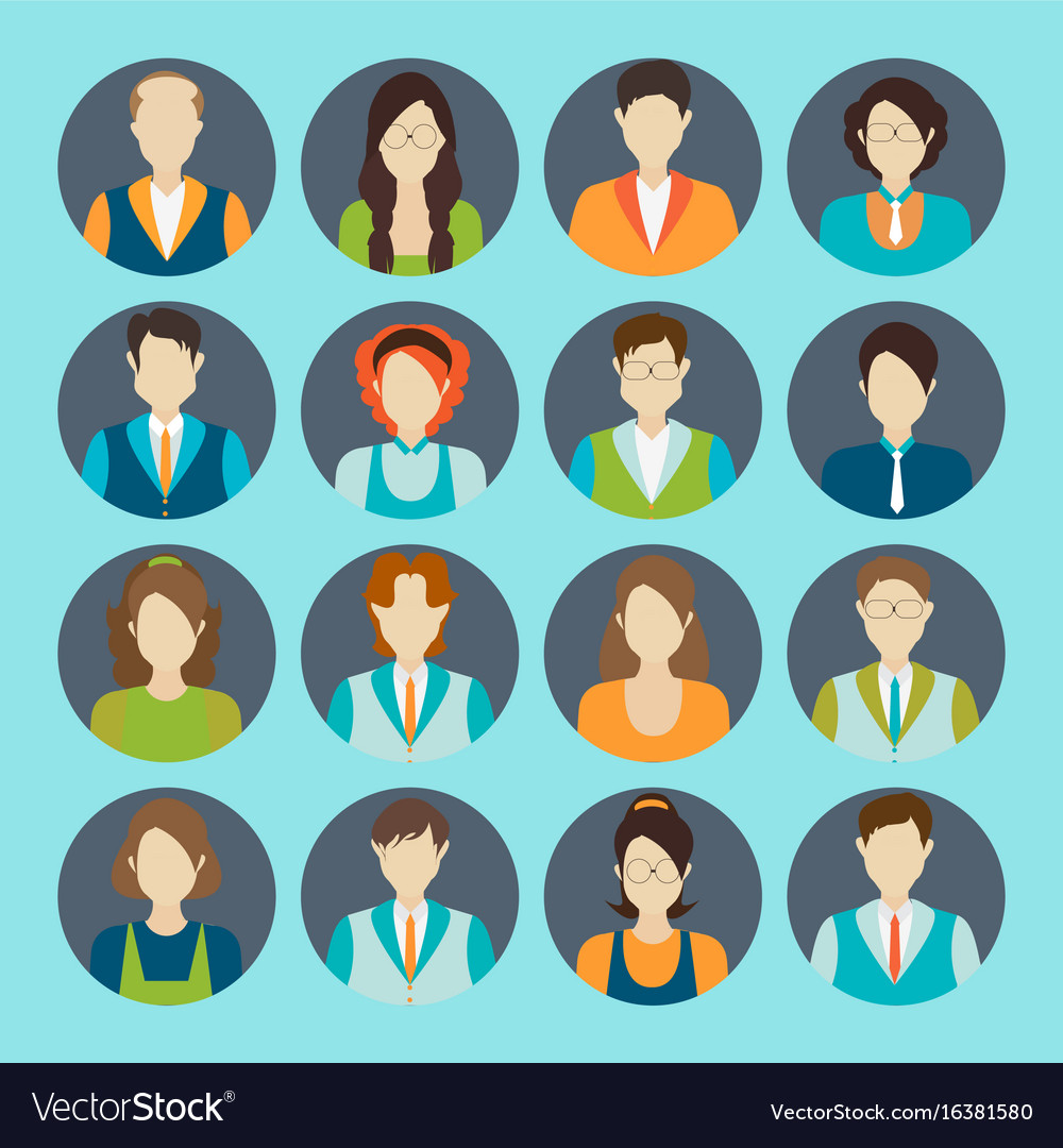 Character cartoon of office worker business vector image