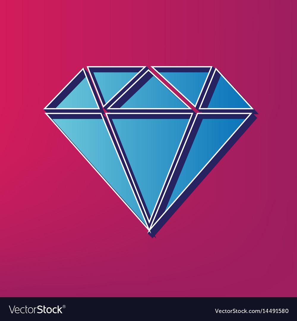 Diamond sign blue 3d printed
