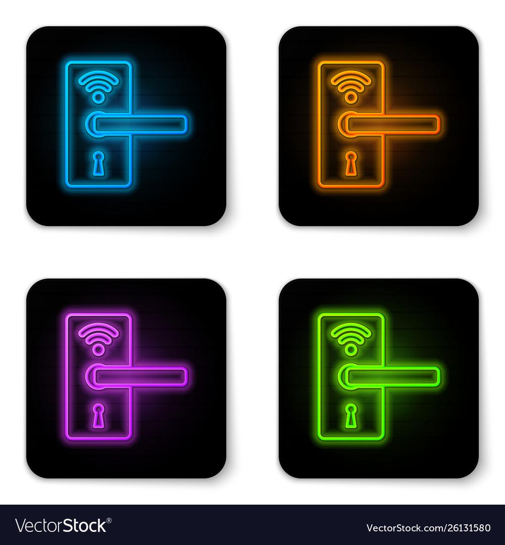 Glowing neon digital door lock with wireless