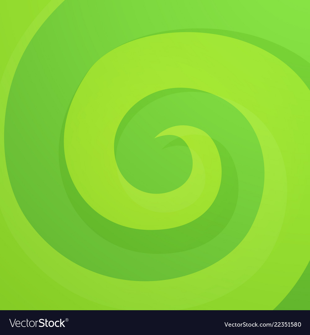 Green abstract twirl background