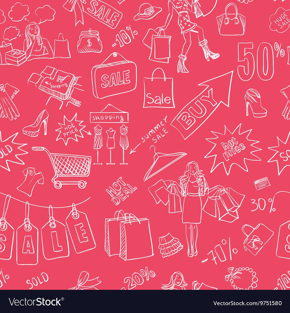 Sale seamless pattern background